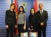 Award of prizes to the students on the occasion of the International Day of Girls in ICT